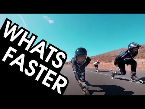 3 , 4 OR 5 WHEELS? WHICH INLINE SKATES ARE FASTER? DOWNHILL SKATING TEST // VLOG 221
