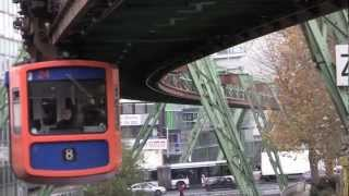 preview picture of video 'Wuppertal Schwebebahn, Germany - 21st November, 2012'