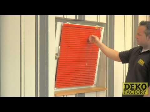 Jalousie Montage mit Klemmträgern - einfach ohne das Fenster anzubohren !