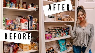 SMALL PANTRY MAKEOVER // CLEAN & ORGANIZE WITH ME!
