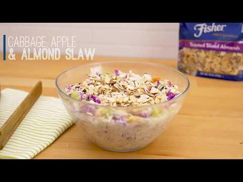 Cabbage Apple Almond Slaw