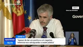 27/04: Ponto de Situação da Autoridade de Saúde Regional sobre Coronavírus nos Açores