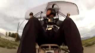UPSIDE DOWN PARAMOTOR INSANITY LOOPS & SPINS WITH SUPERDELL!!! POWERED PARAGLIDING TRIKE!!!