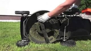 Бензиновая самоходная газонокосилка. Обзорное видео.
