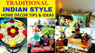 Traditional Indian Style Home Decoration Tips And Ideas   Indian Decor   Brass Decor   Home Tour