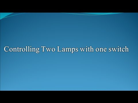 How to Control two lamps with one switch (Circuit Wizard)