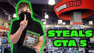 Kid Temper Tantrum Returns To Gamestop To STEAL GTA 5