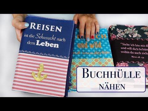 Buchhülle nähen - Einfache Nähanleitung für ein Buchcover ***Nähen für Anfänger***