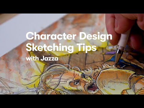 Character Design Session with Jazza: Thumbnailing & Rough Sketching