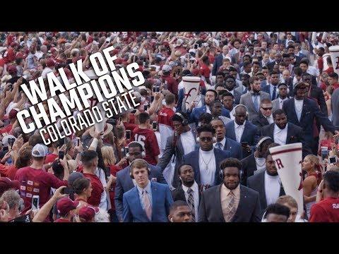 Alabama's Walk of Champions prior to Colorado State game