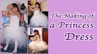 How To Make White Flower Girl Princess Dress With Tulle Tutu - DIY Sewing Project