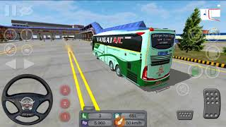 Bus simulator indonesia đón khách ngày mưa skin thaco town (game lái