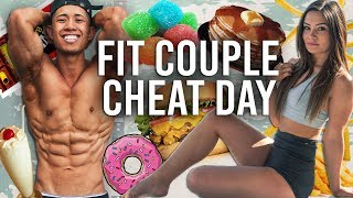 Fit Couples Epic CHEAT DAY (Eat Whatever I Want Guilt Free) Full Day Of Eating Unlimited