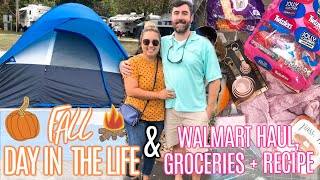 FALL DAY IN THE LIFE | CAMPING VLOG | COOK WITH ME + GROCERY HAUL | WALMART HAUL | JESSICA O'DONOHUE