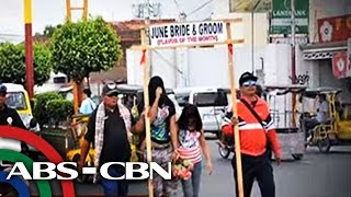 TV Patrol: 'June Bride and Groom' walk of shame sa Batangas