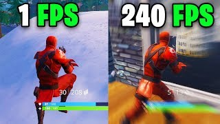 What It Feels Like To Play In 240 FPS   Fortnite Frame Rate Comparison 60 Vs 144 FPS Vs 240 FPShz