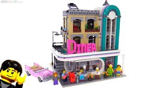 LEGO Downtown Diner modular building review! 10260