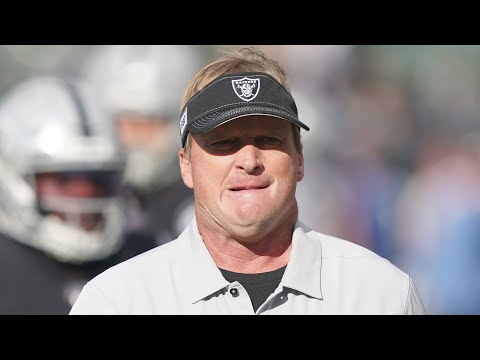 Raiders Coach Jon Gruden congratulates Tennessee Titans on 42-21 win