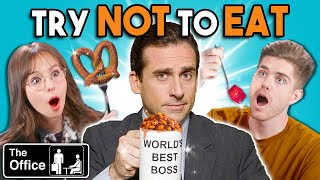 Try Not To Eat Challenge - The Office Foods | People Vs. Food