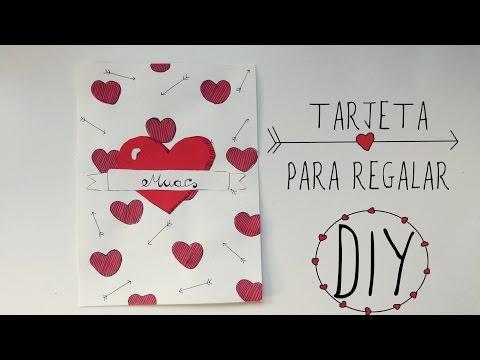 TARJETA PARA REGALAR o LÁMINA DECORATIVA (DIY San Valentín)