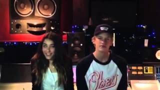 Madison Beer in the studio with Cody Simpson