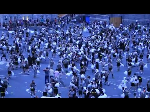 30 injured in mass pillow fight