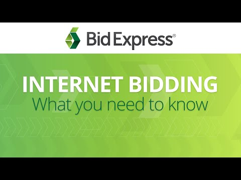 Internet Bidding with the Bid Express service