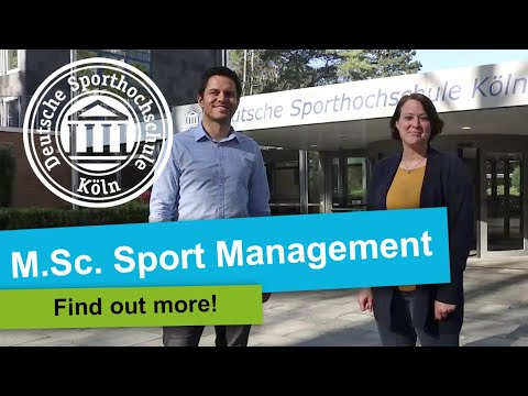 Apply for the M.Sc. Sport Management!