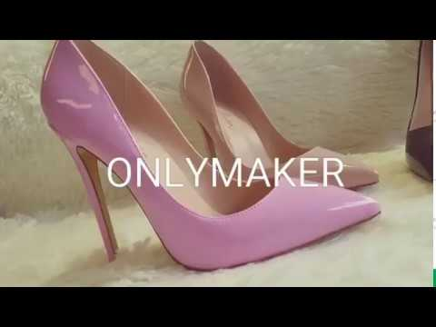Onlymaker colorful 12 cm high heel classic pumps~