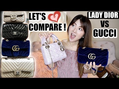 LADY DIOR 🌸 & GUCCI MINI💙 WHAT FITS, COMPARISON, REVIEW, WORTH GETTING??? | CHARIS