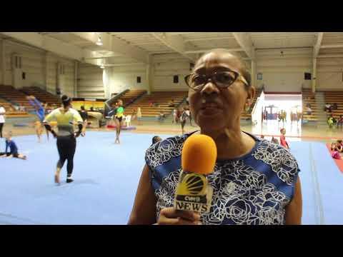 Jamaican Gynmast Represents.
