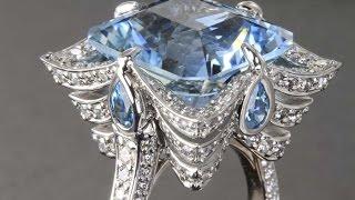Aquamarine Gemstone Ring - Custom Designed
