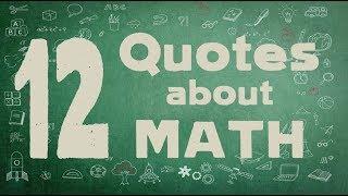 12 Math Quotes - Inspiring quotes about mathematics