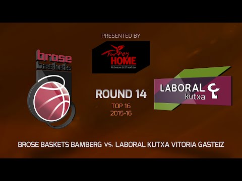 Highlights: Top 16, Round 14, Brose Baskets Bamberg 89-69 Laboral Kutxa Vitoria Gasteiz