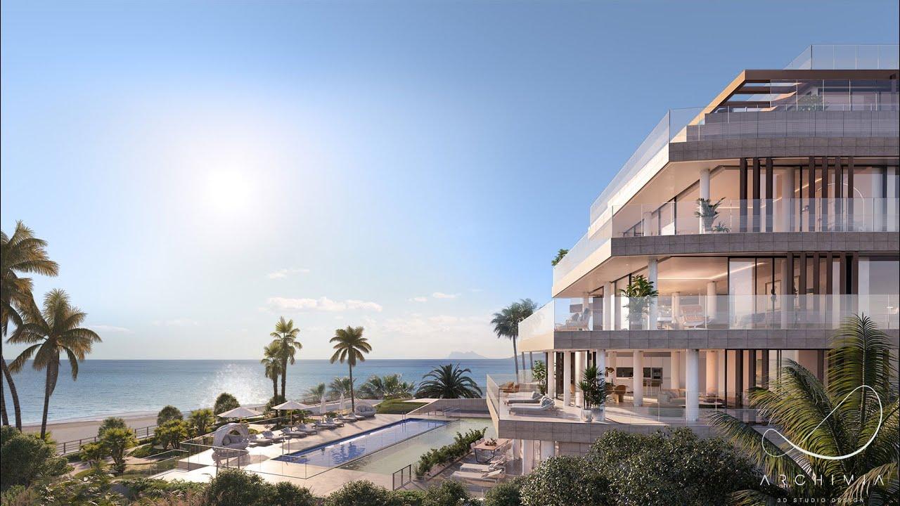 Ático dúplex sobre plano con piscina privada en venta en la Playa de Guadalobón, Estepona
