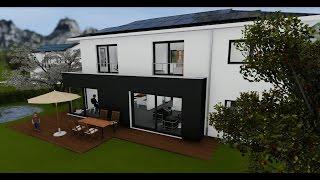 Visualisierung Neubau Einfamilienhaus