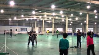 preview picture of video 'playing badminton (time-lapse)'