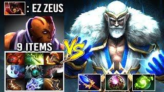 EPIC 100k Damage Zeus vs 9 Items Anti-Mage + Doom 2 Super Hard Counters Insane Gameplay WTF Dota 2