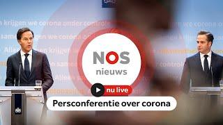 TERUGKIJKEN: persconferentie over coronamaatregelen