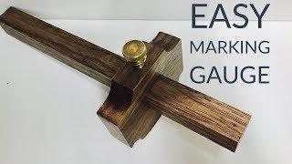 I Make a Beautiful $200* Walnut Marking Gauge | Hand Tool Build Off 2017