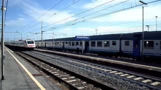 preview picture of video 'Il Freccia Bianca transita VELOCISSIMO a Campoleone!'