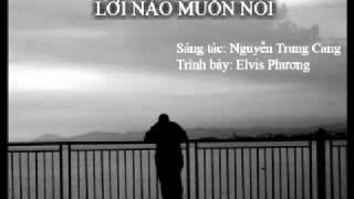 Hợp âm Lời Nào Muốn Nói Nguyễn Trung Cang
