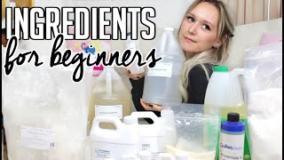 Ingredients needed to Start Making Skincare Products - Formulating for Beginners