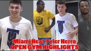 Miami Heat Tyler Herro OPEN GYM HIGHLIGHTS!! Deonte Burton, Michael Foster, & MORE!!