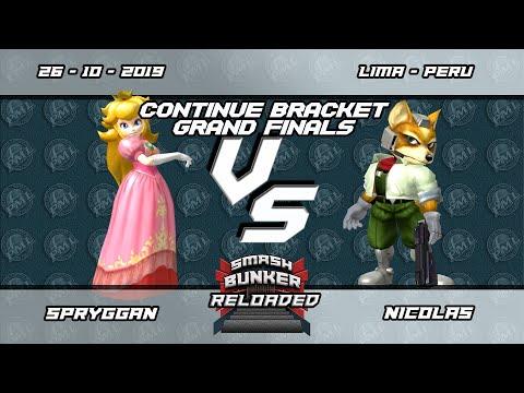 Smash Bunker Reloaded - Spryggan (Peach) vs Nicolas (Fox) - Continue Bracket Grand Finals