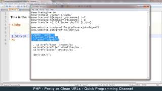 PHP - How to get pretty or clean urls/links using HTACCESS - Full Tutorial[Part 1 of 2]