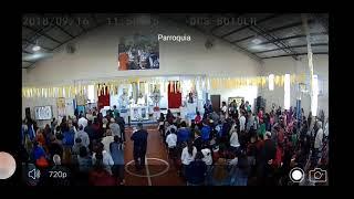 Misa  del Padre Pepe  -Fiesta Patronales en la Capilla del Milagro - Entrega de pañuelos a los niños