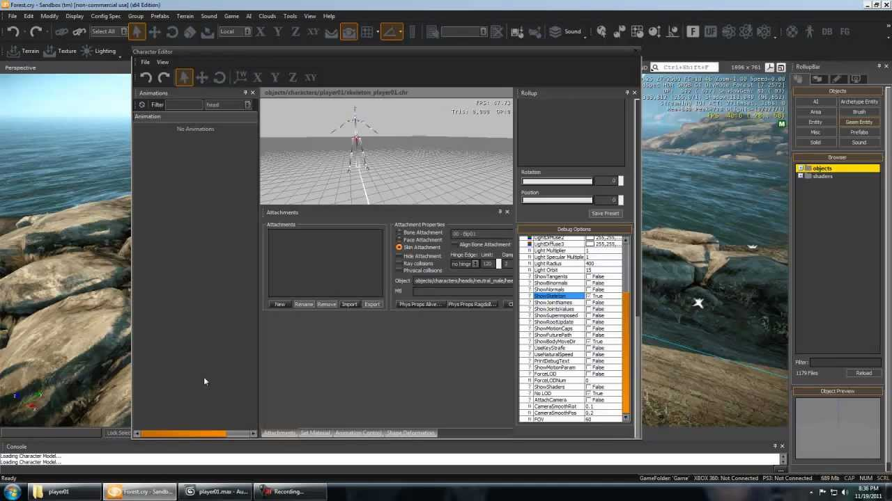 CryEngine 3 Tutorial - Importing Custom Player / Rig / Animations