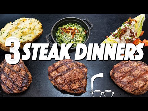 3 STEAK DINNERS THAT WILL MAKE SOMEONE SPECIAL REALLY LOVE YOU | SAM THE COOKING GUY