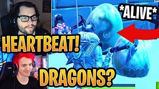 Streamers React to *NEW* ALIVE Baby Dragons inside Eggs (BREATHING)! - Fortnite Moments